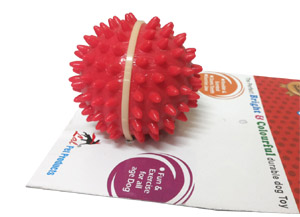 Super Dog Toy Flavored Rubber Stud Spike Ball for Every Day Play Medium