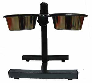 Adjustable Feeding Stand with 2 Bowls Small