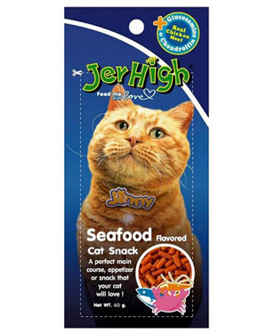 Jerhigh Jinny Seafood Cat Snack 40 gm Pack of 2