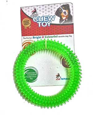 Dog Toy Chew Flavoured Spike Dental Play Ring for Healthy Gums