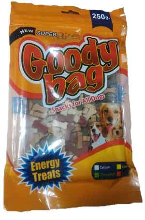 Super Bite Goody Bag Snacks For All Dogs 250 gm
