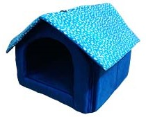 Dog Home In Foam Hut Medium Blue Design May Vary