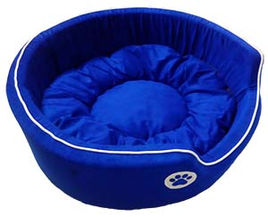 Dog Round Bed Small Fancy in Blue