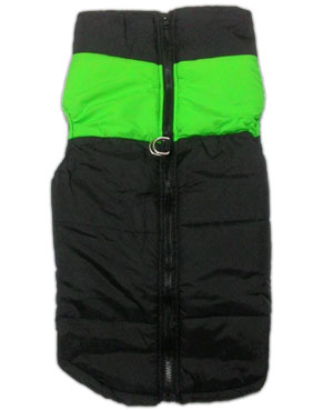 Imported Dog Jacket Black Green Medium S22
