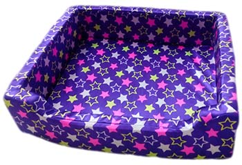 Dog Bed Square Basket Blue Small