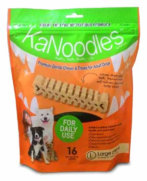 KaNoodles Premium Dental Chews and Treats for Adult Dogs Large 340 gm