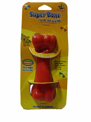 Dog Toy Flavoured Rubber Chew Bone Small