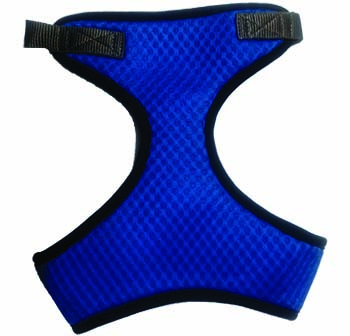 Kanopi Imported Padded Soft Harness L Size Blue for Small Dogs