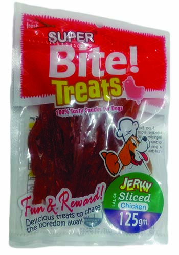 Super Bite Treats Jerky Sliced Chicken 125 Gm