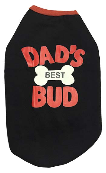 Dog T Shirt Black Best Bud For Medium Dogs S22