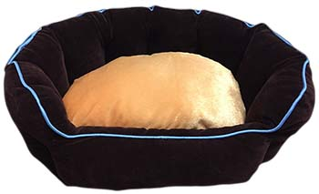 Designer Fluffy Dog Bed Small For Puppies And Small Dogs