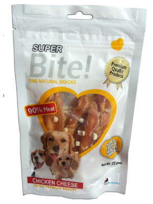 Super Bite Fine Natural Snack Chicken Cheese for Dogs 70 gm