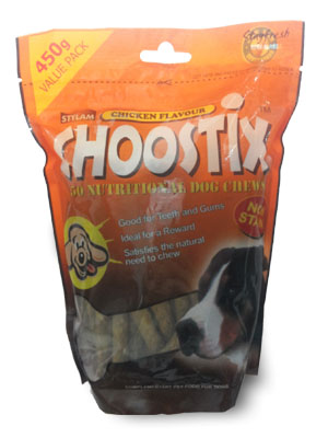 Choostix Chicken Flavour 450gm