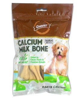 Gnawlers Calcium Milk Bone 12 pieces large 276 gm