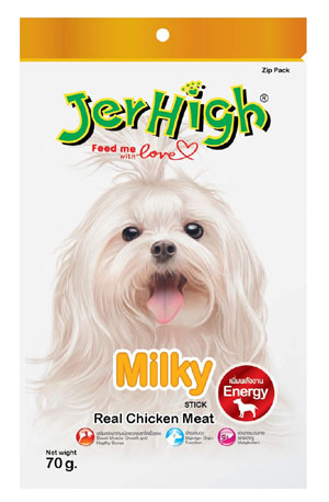 Jerhigh Dog Snack Milky with Calcium 70 gm