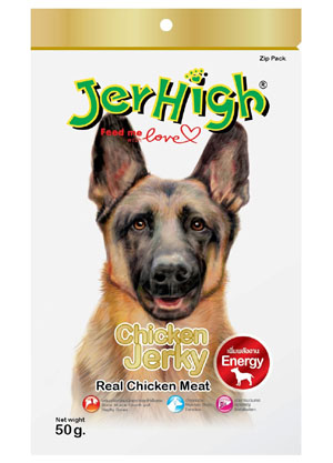 Jerhigh Dog Snack Chicken Jerky 50 gm